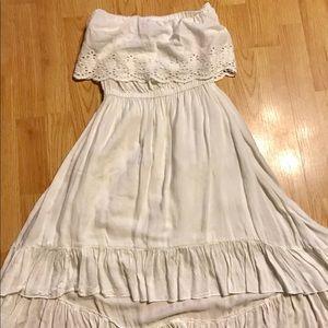 Wet Seal white girls dress SZ small strapless